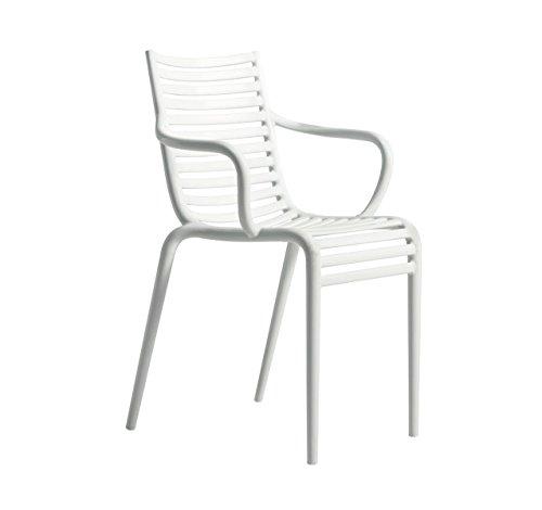 driade - Pip-e Armlehnstuhl - cremeweiß - Philippe Starck mit Eugeni Quitllet - Design - Gartenstuhl - Küchenstuhl - Speisezimmerstuhl - Terrassenstuhl