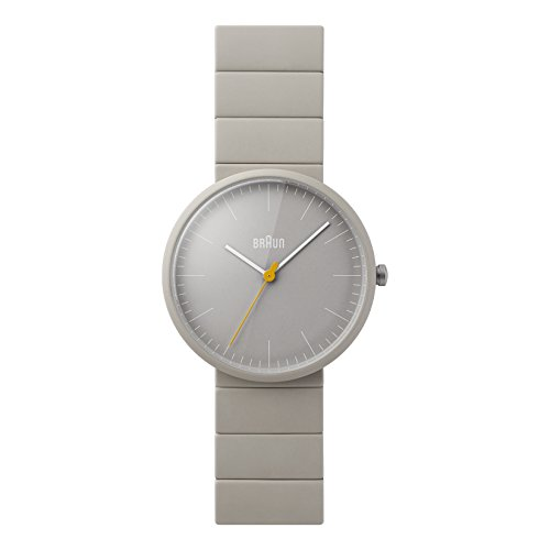 Braun Men's BN0171GYGYG Ceramic Analog Display Japanese Quartz Grey Watch