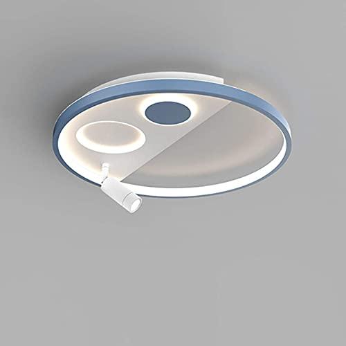 FACAZ Lámpara de Techo Moderna y Minimalista, lámpara de Techo nórdica de acrílico con atenuación de 3 Colores con Foco Ajustable para Dormitorio/Sala de Estar/Comedor, Blanco y Negro, Redonda