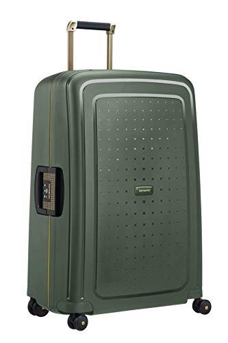 SAMSONITE S'Cure DLX Spinner 75 Equipaje de Mano, cm, 102 Liters, Verde (Dark Green/Gold Deluscious)