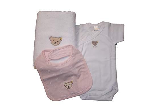 Steiff Geschenkset für Mädchen, Handtuch, Body & Lätzchen, Gr. 74