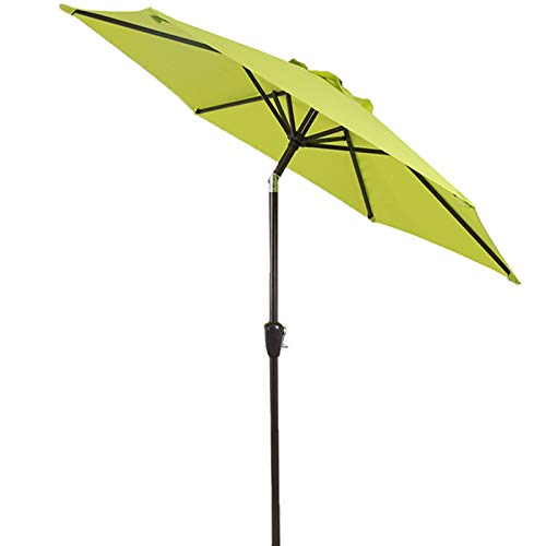 Parasol Umbrella Sombrilla de Patio de 2,25m / 7,38 Pies, Sombrilla de Mesa con 8 Varillas, para Jardín, Patio Trasero y Piscina, Verde/Azul/Beige (Color : Green)