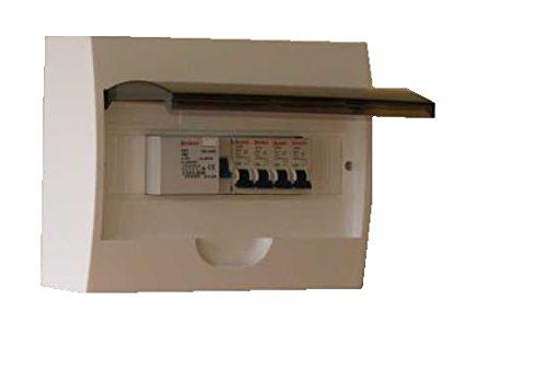 Kleinverteiler Unterverteiler mit Fi Schlater und 4x Sicherung B 16A Verteiler bestückt sicherungskasten