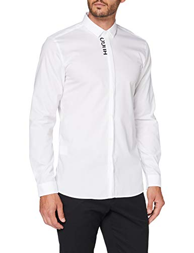 HUGO Mens Etran Shirt, Open White (199), 42
