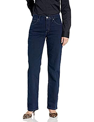 Riders by Lee Indigo Women's Classic-Fit Straight-Leg Jean, Dark, 16 Petite