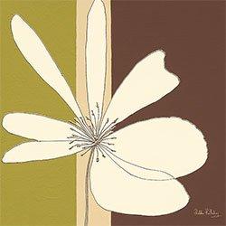 Eurographics Canvas Art - Cuadro, diseño Cream Flower Burst, 20 x 20 cm