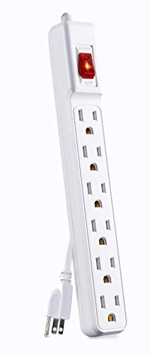CyberPower GS60304 Power Strip 6-Outlets 3-Foot Cord White