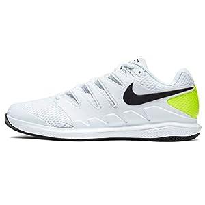 Nike Air Zoom Vapor X Hc Mens Aa8030-107 Size 7 White/Black-Volt