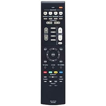 RAV533 ZP35490 Replacement Remote fit for Yamaha AV Receiver RX-V479 RX-V579 RX-V579 HTR-4068 TSR-5790 TSR-5790BL HTR-3068 RX-V479BL RX-V579BL YHT-5920UBL YHT-5920 RX-V481 RX-V481D RX-V483 YHT-5950U