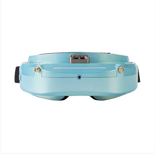DishyKooker Fernbedienung Drohne Kamera Hubschrauber fliegenspielzeug Skyzone SKY03O OLED Vielfalt FPV Brille Unterstützung OSD DVR HDMI mit Head Tracker Fan LED für RC Racing Drone Hellblau