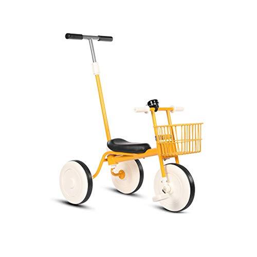 Siuber Triciclos clásicos para niños 2 en 1, 3 ruedas, con pedal extraíble y barra de empuje para padres, diseño bien considerado para triciclos de 1 a 3 años de edad