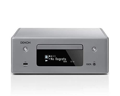 Denon RCD-N10 - Receptor de CD (Wi-Fi, Bluetooth, Airplay, Heos, Amazon Alexa), Color Gris