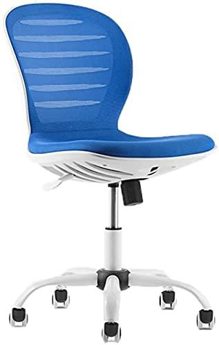 Bar pall Bekväm gäststol-verkställande stol, netto Andningsstol Stol Personalstol Kontor Swivel Stol Konferensstol Fåtölj Rostad Stol Multifunktionella Stol Kontorsmaterial (Färg: Blå)