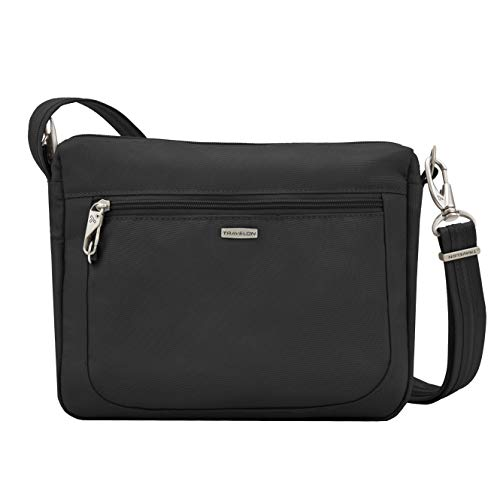 Travelon Anti-Theft Classic Small E/w Crossbody Bag, Black, One Size