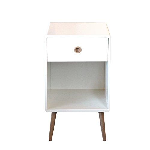 Steens Softline Kommode, 1 Schublade, 1 offenes Fach, 41 x 73 x 40 cm (B/H/T), MDF Holz in weiß