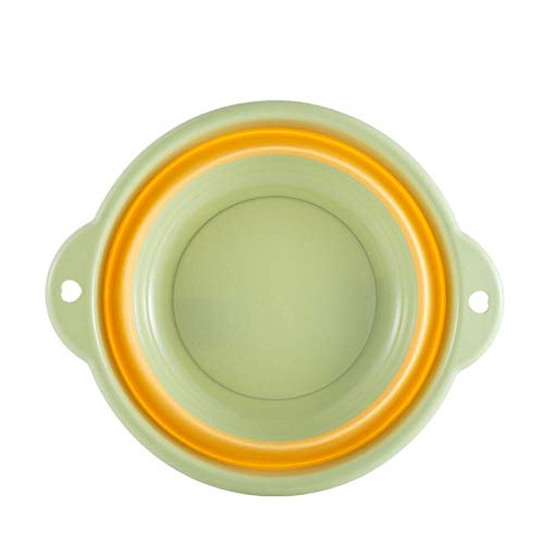 Lavabo pliant portable, bassin en plastique suspendu, bain de pieds pliable-Vert moyen 32 * 12 * 19,5 cm