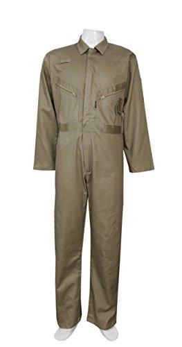 Highliving Mens Boiler Suit Overall Coverall Work wear Mechanics Student Cotton (XL) Khaki