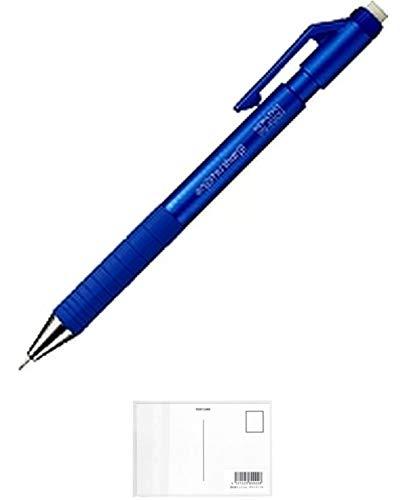 コクヨ シャープペンシル エンピツシャータイプS 0.9mm ブルー(PS-P200B-1P) + 画材屋ドットコム ポストカードA