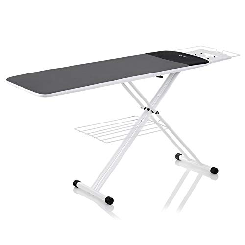 Reliable 320LB Home Ironing Board - 2-in-1 Home Ironing Table with Large 55 Inch Pressing Surface (Extended), Iron Board Made with Heavy-Duty Tube Frame Construction, Strong Iron Rest, Made in Italy