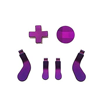 Metal D-Pads and Paddles Replacement for Xbox One Elite Controller Series 2 Xbox One Elite Controller Purple