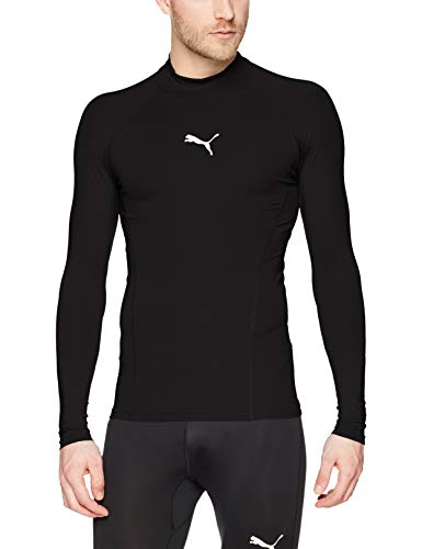PUMA Herren Liga Baselayer Tee LS Warm Shirt, Black, M