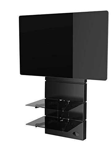 Meliconi GHOST Design 3500 Rotation Nero Matt Supporto da Muro per TV da 32' a 65', vesa 200, 300, 400 mm