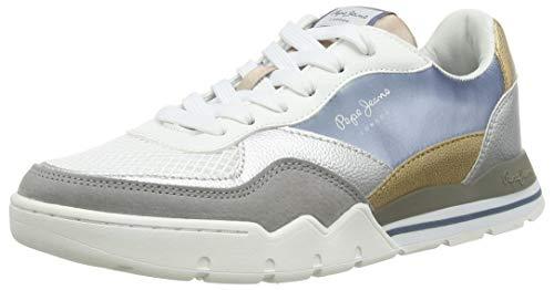 Pepe Jeans London Damen Siena COOL Sneaker, 417THISTLE DOWN, 41 EU