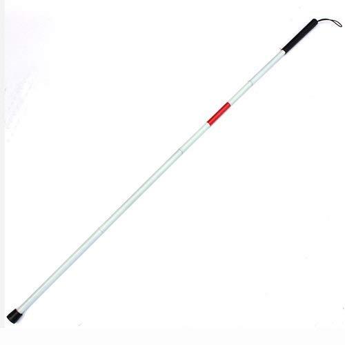 SGSG Bastones Plegables para Ciegos, Bastones para Caminar, Ajustable, Reflectante, Rojo, guía para Personas ciegas con discapacidad Visual, muleta para Personas ciegas