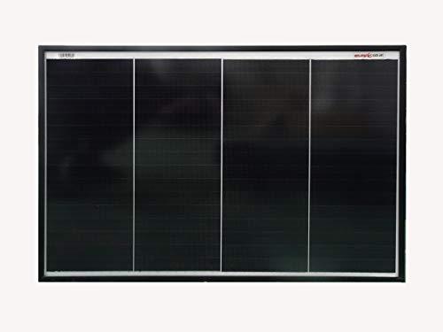 enjoysolar® Schinel 50W Monokristallin Solarmodul Mono 50W Solarpanel 12V mit neuartiger Schindeltechnologie