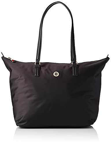 Tommy Hilfiger Poppy ST Tote, BDS, OS, Donna, Nero, One Size