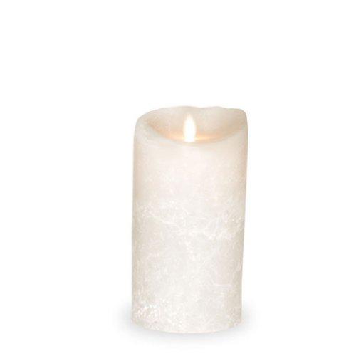 sompex Flame LED Kerze 8x18 weiß Echtwachs gefrostet m. Timer