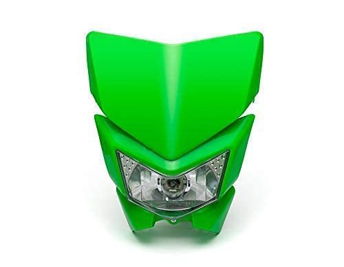 Moto Phare Masque - Streetfighter & Supermoto - Vert - 12V 35W