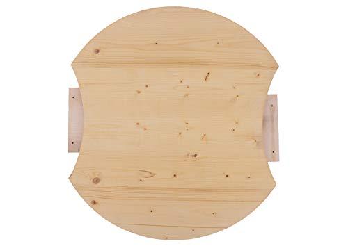 Hermesmöbel BKEWR70FI Table de bistrot avec rallonge pour Table de Jardin huilé Ø 70 cm