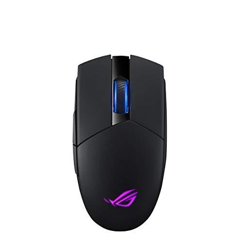 ASUS ROG Strix Impact II Wireless mouse gaming con connettività wireless a 2,4 GHz, 16.000 DPI, cinque pulsanti programmabili e orientabili, Aura Sync RGB