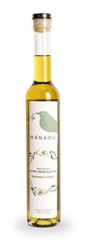 Mánamu Aceite de Oliva Extra Virgen MONOVARIETAL Premium · Variedad Koroneiki GRIEGO · Prensado en Frío · Cosecha 20/21 · 375 ML