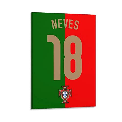 Dekoration 18 Ruben Neves Portugal Flagge Portugal Druck Malerei Leinwand Bild Für Wohnzimmer Wand Zimmer Poster-Multi-Size (gerahmt/ungerahmt)