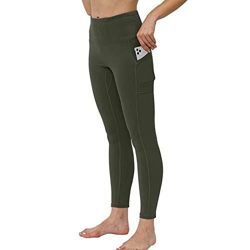 Mallas Deportivas Mujer Fitness Gimnasio Running Yoga Color sólido Gran Elásticos Pantalones Deportivos Transpirables Leggins Push Up Mujer
