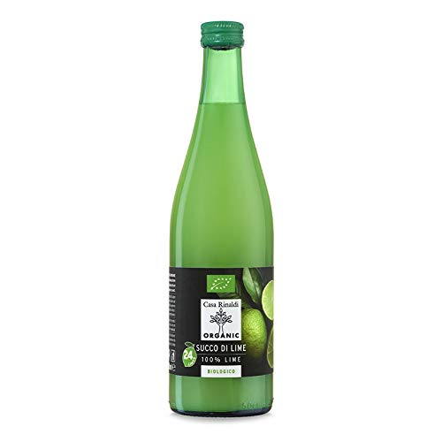 Casa Rinaldi カーサ リナルディ 生搾り有機ライムストレート100%果汁 500ml 有機JAS認証 国際規格HACCP認証