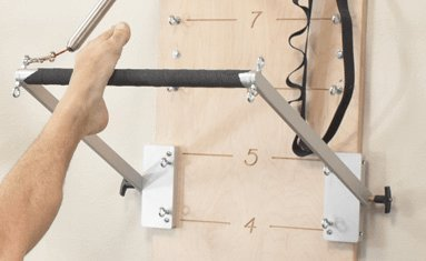 balanced body Push-Through Bar Kit for Pilates Springboard with 2 Medium-Resistance Springs, Home Gym Equipment Accessories