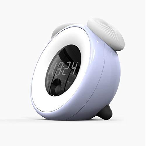 Decoratieve verlichting Smart Timed Sleeping Nachtkastje Lamp Sensing digitale wekker nachtlampje (blauw) Decoratieve verlichting (Color : Blue)
