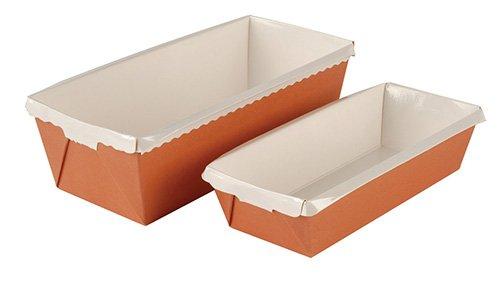 Cuisineonly - Moules optima cake - 30 - 40 unités 40 moules dimensions fond 200X80mm hauteur 70mm. Cuisine : Usage Unique (moules)