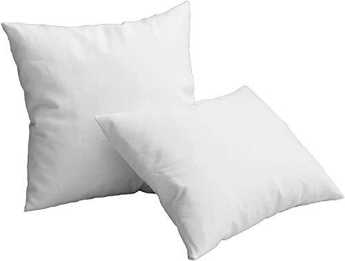 2 Rellenos de Cojines de 50x60, Varias Medidas, Fibra, Costuras internas. Relleno para Cojines de Gran Densidad y Volumen para Cojines de sofás, Camas, Suaves e indeformables (50x60 cm)