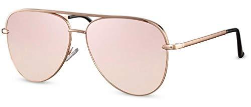 Gafas de sol unisex piloto dorado/rosa (CWI1909)