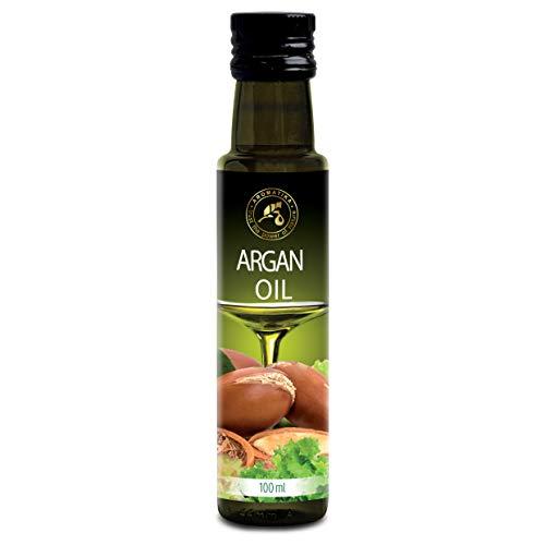 Aceite de Argán Marroquí 100ml - Comestible - Prensado en Frío - Aceite de Argán para la Alimentación & la Salud - Argania Spinosa - Aceite de Argán Marroquí Crudo 100% Puro & Natural