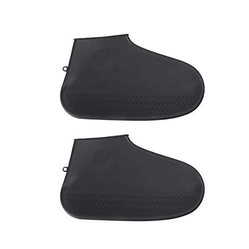 Hemoton 1 par de protectores de zapatos impermeables de silicona para exteriores, tamaño L, color negro