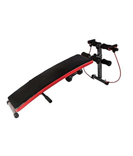 KOBO Foldable Incline Sit Up Bench Ab Workout Home Gym with Dumbell & Resistance Band (Imported)