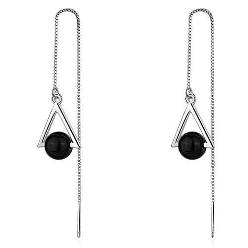 Zaaqio Pendientes de Plata de Ley 925, Pendientes de Bellota y Hojas con Cristal para Mujer, Regalo de Fiesta de Boda, joyería de Moda