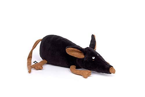 sigikid BEASTS, Kuscheltier für Erwachsene und Kinder, Maus, Luxury Lux, Beasts Town, Schwarz, 39164