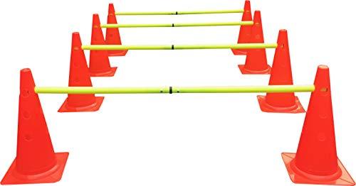 Sportsgear US Dog Agility Hurdles Cones - Canine Agility Training Set - 8 Hurdles & 4 Poles Set