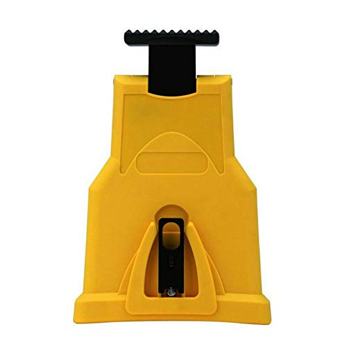 Xucus Chainsaw Teeth Sharpener PowerSharp Bar-Mount Chainsaw Chain Sharpening Tools Fast Grinding System Abrasive Woodworking Tools - (Color: Yellow)